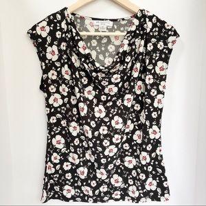 Liz Claiborne Floral Blouse • Size PM
